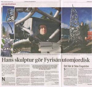Artikel om Silas Engström i Uppsalatidningen