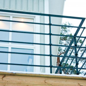 Nitad, pressad balkong