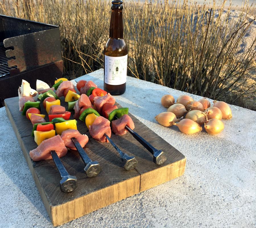 Bordet är perfekt till grillen!